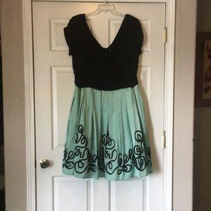 Iridescent Sea-foam light Green Party Dress